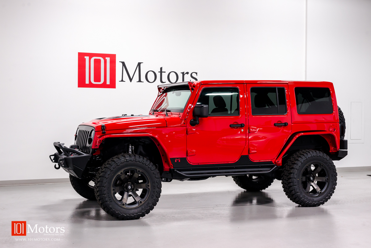 2015 Jeep Wrangler Unlimited Hardtop Red Saddle