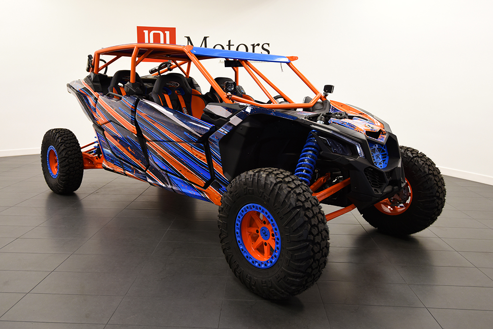 Orange and Blue Custom Design Can-am X3
